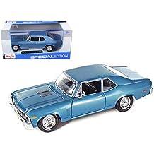 1970 Chevrolet Nova SS Coupe Blue 1/24 Model Car by Maisto