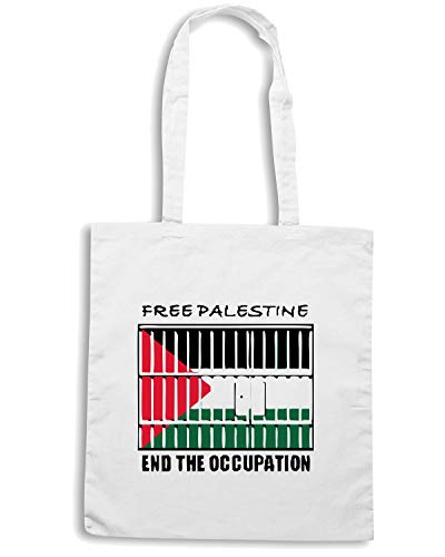 PALESTINE Shirt Shopper TM0578 Bianca Speed Borsa qXPPH