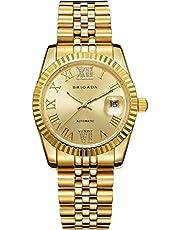 BRIGADA Swiss Brand Nice Classic Luxury Gold Hollow Mechanical Automatic Men's Watch