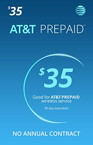 AT&T Prepaid Triple Cut Sim Card with $35 1 Month Service Included (Best Monthly Unlimited Cell Phone Plans)