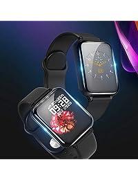Reloj Deportivo Mujer Hombre, Reloj Inteligente para Android y iOS Móvil, con Monitor de Frecuencia Cardíaca y Presión Arterial, Monitor de Sueño, Recordatorio de Información y Contador de Pasos A Prueba de Agua