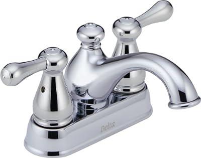 Delta Faucet 2578LF-MPU Leland, Two Handle Centerset Lavatory Faucet, Chrome