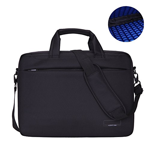 Lightweight Notebook Case - 15.6 Inch Airbag Lightweight Business Laptop Shoulder Messenger Bag Briefcase Sleeve Case for 15 - 15.6 Inches Laptop / Notebook / MacBook / Ultrabook / Chromebook Computers (15 inch, Black)