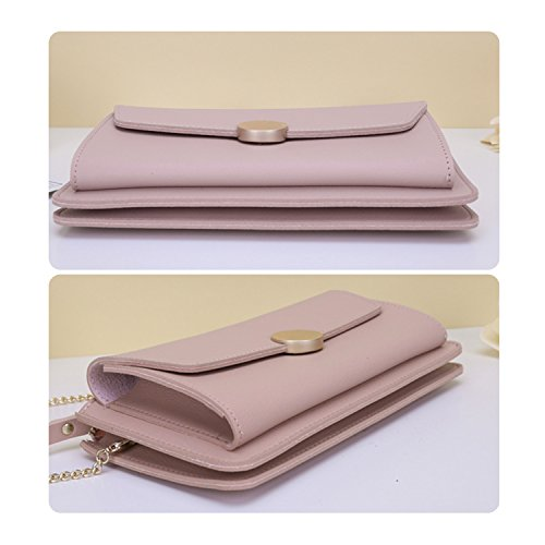 Leather Envelope Bag Pink2 NOTAG Chain With Women Clutches PU For Party Evening Clutch Handbag Strap Casual YBIRUq