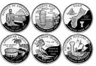 2009 P U.S. Territories & District of Columbia Quarters P Mint (6 Coins) Uncirculated