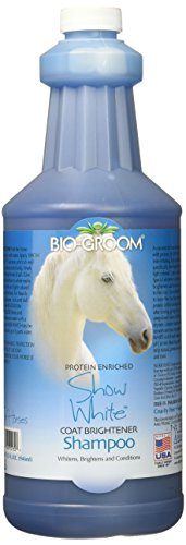 Bio-groom SNOW WHITE Horse Coat Brightener Shampoo 1 quart (Brightener Color Light Coat)