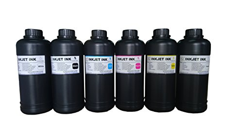 6x500ml ND Brand Premium Led UV Curable ink for Flatbed Printer Head R290,L800,L1800,R1390,R1400,R2000,DX5,DX7 by ND