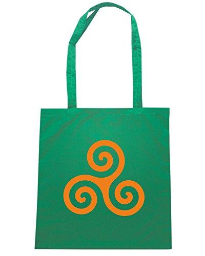 T-Shirtshock - Bolsa para la compra TIR0265 Triskelion Verde