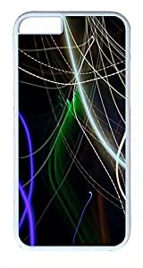 ACESR Abstract Line iPhone 6 plus 5.5 Hard Shell Case Polycarbonate Plastics Lightweight Case for Apple iPhone 6 plus 5.5 White