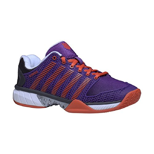 K-Swiss Womens Hypercourt Express Tennis Shoe (9.0, Purple Magic/Hot Orange/Jet Black)