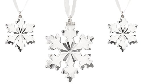 Swarovski 3-Piece Christmas Ornament Set, Limited Edition 2016 ()