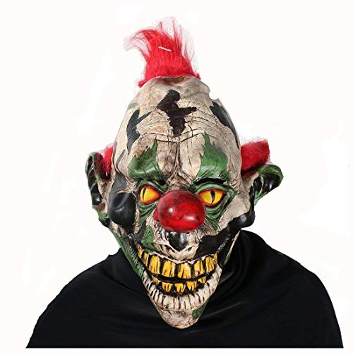 (Scary Clown Mask Halloween Party Costume Decorations Creepy Latex Mask for Adults (Pointed ears ghost)