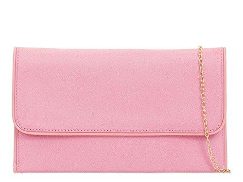 NEUF chair main simili Rose femme 'S pour Sac cuir habillé pour Medium Fête DIVA à pochette Rouge haute 7xtTY