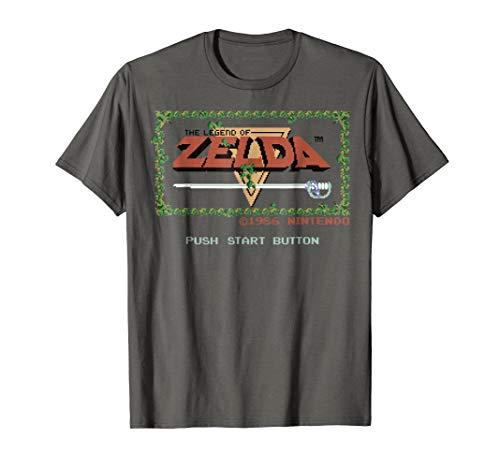 Nintendo Legend of Zelda Classic NES Title Screen T-Shirt, Adults or Kids