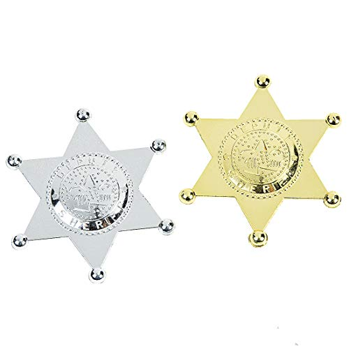 Plastic Sheriff Badges]()