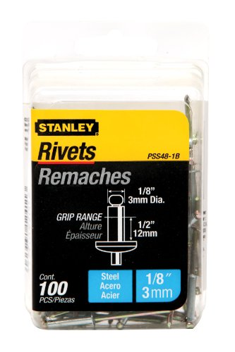 Stanley Steel Rivets - Stanley PSS48-1B 1/8 Inch X 1/2 Inch Steel Rivets,Pack of 100(Pack of 100)