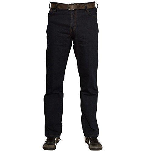 Wrangler - Texas Black Ovrd, Jeans da uomo, blau-schwarz, 38W / 34L