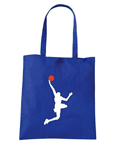 T-Shirtshock - Bolsa para la compra OLDENG00791 basketball Azul Real