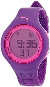 PUMA PU910801012 - Reloj digital de cuarzo unisex con correa de plástico, color morado