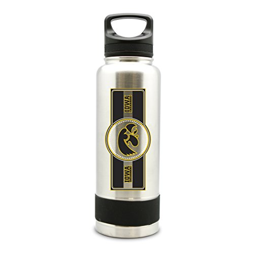(NCAA Iowa Hawkeyes 38oz Double Wall Stainless Steel Large Water Bottle)