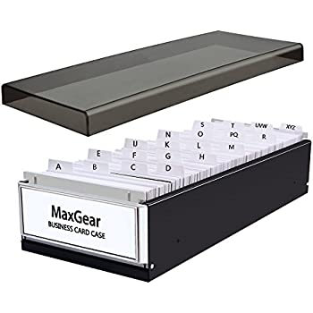 Amazon maxgear business card organizer business card file name maxgear business card organizer business card file name card case holder card storage box organizer office colourmoves