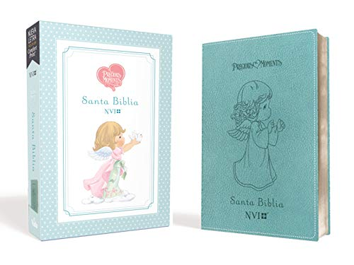 (Santa Biblia Precious Moments NVI Angelitos, Ultrafina Compacta Aqua (Spanish Edition))