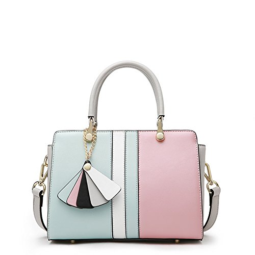 GUANGMING77 _ Borsetta Crossbody Bag Pacchetto Platinum,Colore Nero Cenere Mista Blue powder
