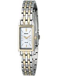 Seiko Womens SUP028 Stainless Steel Solar Watch
