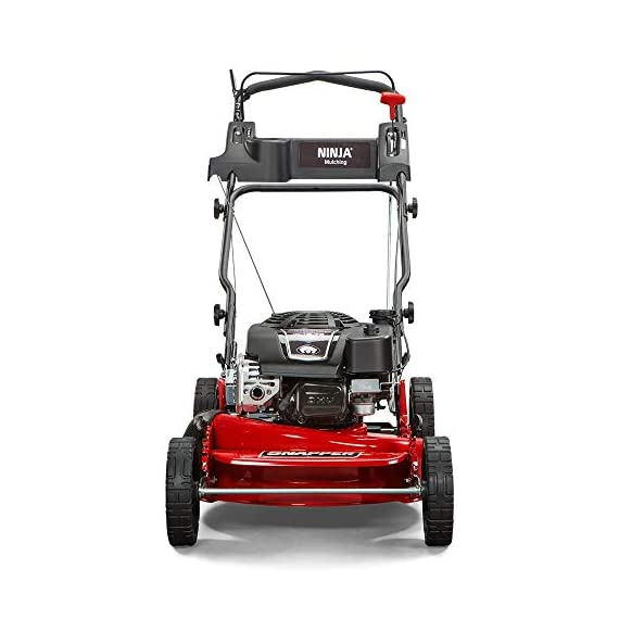 """Snapper RP2185020 / 7800981 NINJA 190cc 3-N-1 Rear Wheel Drive Variable Speed Self-Propelled Lawn Mower with 21-Inch Deck and Ready Start System, Ninja Mulching Blade and 7 Position Heigh-of-Cut 2 <p>Snapper RP2185020 NINJA Series Lawn Mower. Best mower for mulching fans, the Snapper Ninja walk-behind lawn mower's powerful blade with 6 cutting surfaces finely mulches grass clippings while the deck blows them back into your yard. This Snapper 21"""" lawn mower features a rear wheel drive system with high 10"""" rear wheels for superior traction on hills & thick grass. The reliable Briggs & Stratton professional series OHV engine keeps you going with professional-grade features from ready start technology to quieter operation & increased durability. Briggs & Stratton 850 professional Series engine with ready start starting system no priming, no choking. Just pull and go Rear wheel drive improves walk behind mower traction and the smooth turn differential helps ensure easy maneuverability without damaging your grass Ninja blade features 6 powerful cutting surfaces to finely mulch your grass while the deck design blows them back into the lawn Rugged solid Steel front Axle and stamped Steel mower deck provides long lasting performance season after season Easily change the height of cut with the easy to use adjustment handles (7 height of cut adjustments from 1.25 Inch to 4 inch)</p>"""