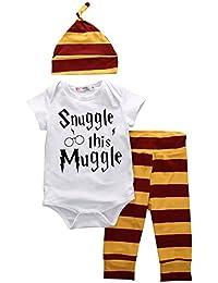 Baby Boys Girls Snuggle this Muggle Short Sleeve Bodysuit...