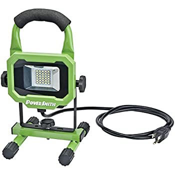 PowerSmith PWL1115BS 15W 1400 Lumen LED Work Light Equipped with Metal Stand and Lamp Housing with 5 ft power cord
