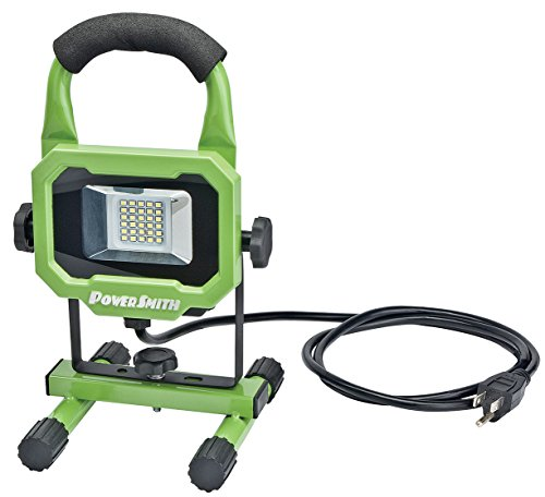 PowerSmith PWL1115BS 15W 1400 Lumen LED Work Light Equipped with Metal Stand and Lamp Housing with 5 ft power cord from PowerSmith