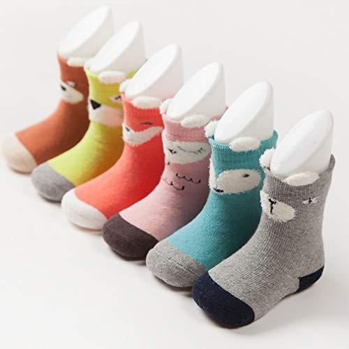 Cotton Thick Terry Cloth Cartoon Anti-Slip Xiang Ru 1 pair Newborn Baby Socks