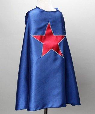 Blue Kids Superhero Cape- Red Star