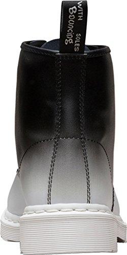 Dr. Martens Womens 101 6 Eye Boot Wit, Zwart