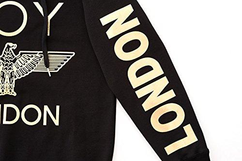 BOY LONDON '''London Printed on Sleeves Hoodie -BG3HD028 Black, X-Large by BOY LONDON (Image #5)