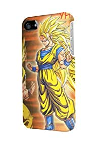 ip40650 Super Saiyan Son Goku III Glossy Case Cover For Iphone 4/4s by runtopwell
