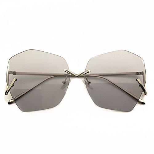 LXKMTYJ Europa Und Die Vereinigten Staaten Trends Unregelmäßige Rahmenlose Brille Persönlichkeit Sonnenbrille, Lila
