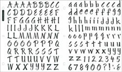 Bulk Buy: Sticko Susy Ratto Brush Letter Stickers 1