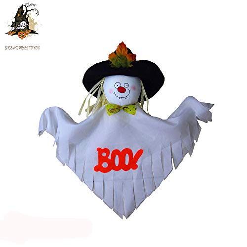 Ghost Doll Pendant Rendering The Atmosphere Halloween Funny Ghost Trick Or Treat Party Shroud Door Hanger Prop Decoration (white) -