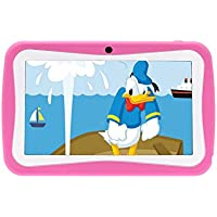 PoGo 7 Android 4.0 Tablet PC for Kids Children A13 1.2GHz 4GB Dual Cam- (Pink)