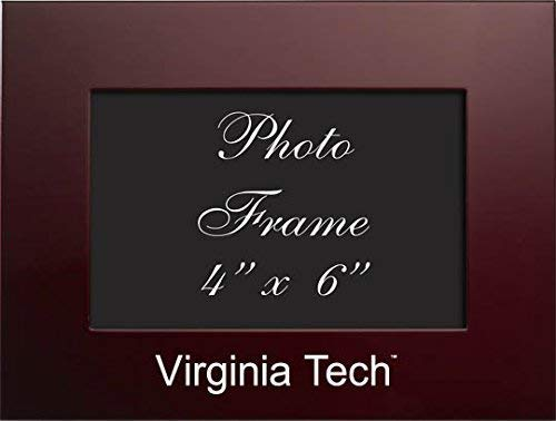 (LXG Virginia Tech - 4x6 Brushed Metal Picture Frame - Burgundy)