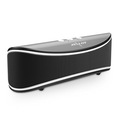Bluetooth Speakers, ZEALOT S2 Wireless Portable Speaker, Desktop Computer Speaker with Enhanced Bass, Build in Microphone for Hands Free Phone Call, 3.5mm Audio Jack I/0 (Black)