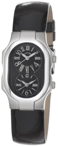 Philip Stein Women's 1-MB-LB Signature Black Patent leather Strap Watch
