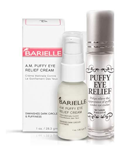 Barielle Dynamic Duo Bundle: 2 Piece Puffy Eye Relief Set - for puffy eye relief, eye cream puffy dark circles, eye puffy treatment