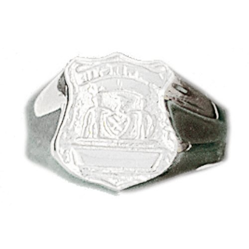 - Jewels Obsession Police Badge Men's Rings | 14K White Gold Police Badge Men's Ring - Made in USA (Custom Sizes Available 4-11)