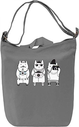 Camera cat Borsa Giornaliera Canvas Canvas Day Bag| 100% Premium Cotton Canvas| DTG Printing|