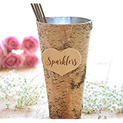 Wedding Sparklers Holder - Rustic Wedding - Large Sparkler Bucket - Long wedding sparklers - Sparklers Pail - Wedding Sparklers …