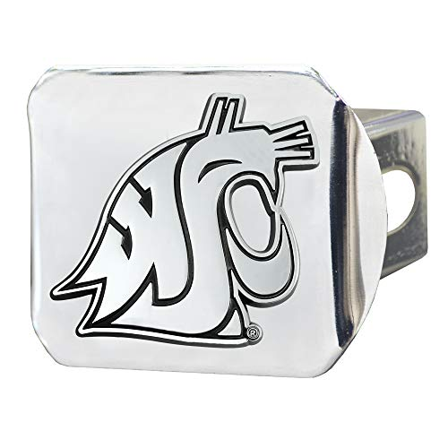 - FANMATS NCAA Washington State Cougars Hitch Cover - Chromehitch Cover - Chrome, Team Colors, One Sized