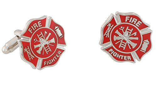 Firefighter Maltese Cross Enamel Cufflinks product image